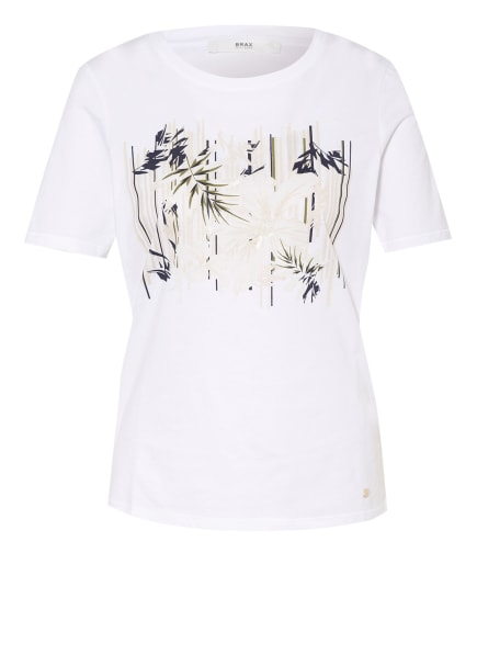 BRAX T-Shirt CIRA, Farbe: WEISS/ DUNKELBLAU (Bild 1)