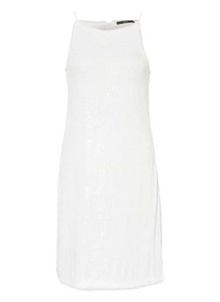 SET Kleid mit Paillettenbesatz , Farbe: WEISS (Bild 1)