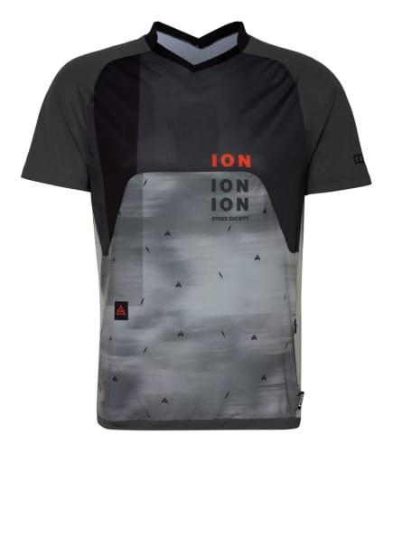ION BIKE Radshirt TRAZE VENT mit Mesh-Einsätzen, Farbe: OLIV/ KHAKI/ HELLGRÜN (Bild 1)