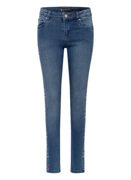 GUESS Skinny Jeans mit Stickereien, Farbe: BLAU (Bild 1)