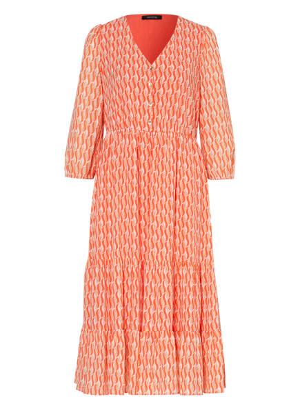 comma Kleid mit 3/4-Arm , Farbe: ORANGE/ WEISS/ BEIGE (Bild 1)