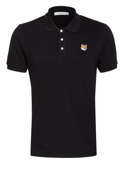 MAISON KITSUNÉ Pique-Poloshirt, Farbe: SCHWARZ (Bild 1)