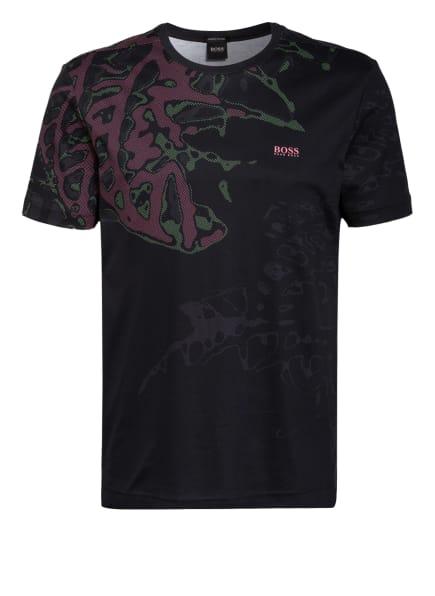 BOSS T-Shirt TEE, Farbe: SCHWARZ/ NEONPINK/ NEONGRÜN (Bild 1)