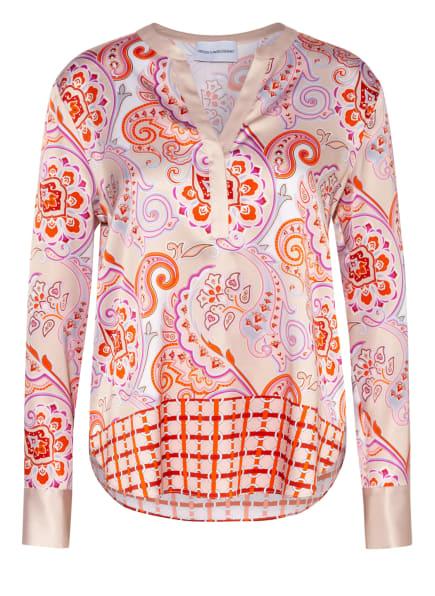 HERZEN'S ANGELEGENHEIT Blusenshirt aus Seide, Farbe: NUDE/ ROSA/ ORANGE (Bild 1)