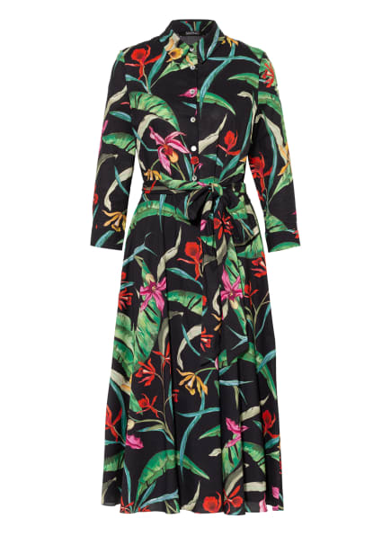 SWING Kleid, Farbe: SCHWARZ/ GRÜN/ FUCHSIA (Bild 1)