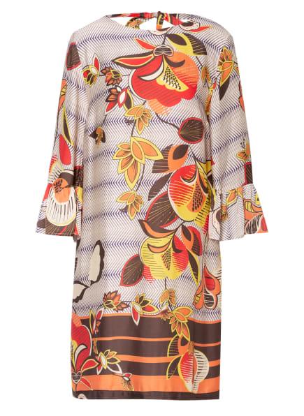 ana alcazar Kleid mit 3/4-Arm , Farbe: CREME/ DUNKELBRAUN/ DUNKELGELB (Bild 1)