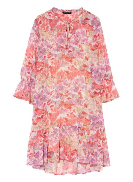 ana alcazar Kleid mit 3/4-Arm und Volantbesatz, Farbe: WEISS/ HELLLILA/ HELLROT (Bild 1)