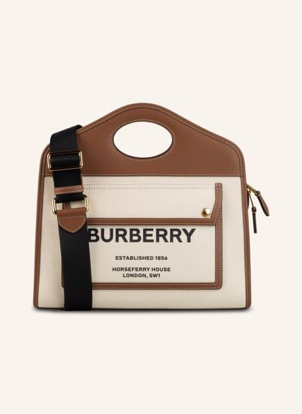 BURBERRY Handtasche POCKET BAG, Farbe: BRAUN/ CREME (Bild 1)
