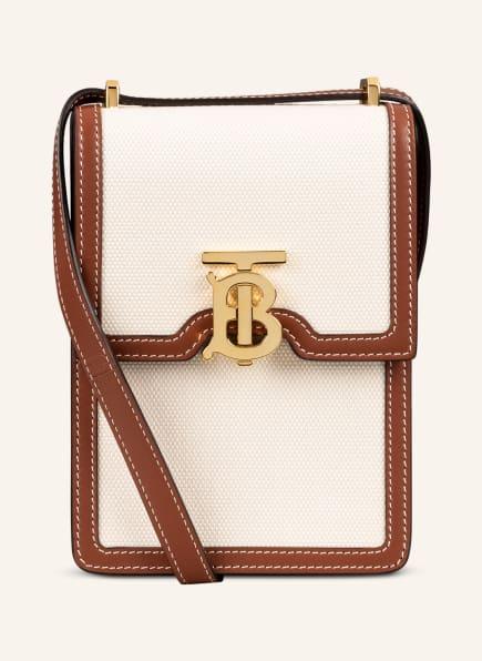 BURBERRY Smartphone-Tasche ROBIN , Farbe: ECRU/ BRAUN (Bild 1)