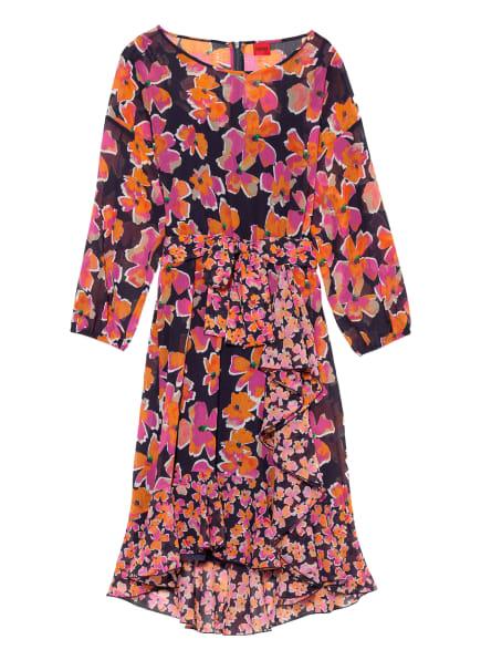 HUGO Kleid KIMIRIA mit Volantbesatz, Farbe: PINK/ DUNKELBLAU/ ORANGE (Bild 1)