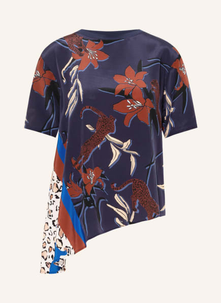 MARC CAIN Blusenshirt im Materialmix, Farbe: 797 dark plum (Bild 1)