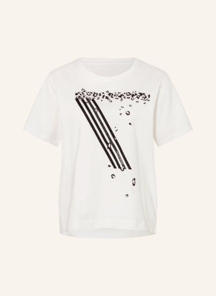 MARC CAIN T-Shirt mit Schmucksteinbesatz, Farbe: 110 off (Bild 1)
