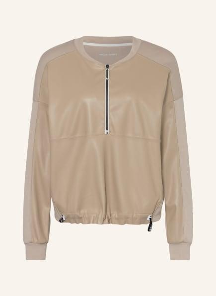 MARC CAIN Sweatshirt im Materialmix, Farbe: 602 latte macchiato (Bild 1)