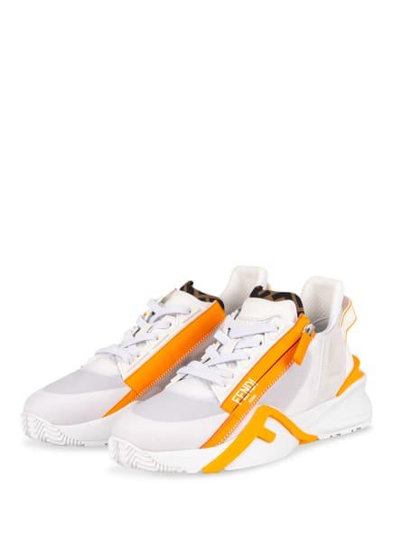 FENDI Sneaker FLOW , Farbe: WEISS/ NEONORANGE (Bild 1)