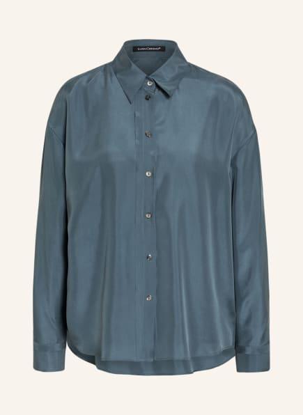 LUISA CERANO Hemdbluse aus Seide, Farbe: BLAUGRAU (Bild 1)