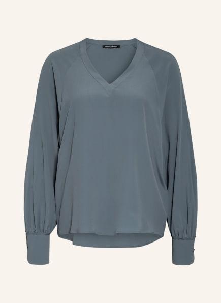 LUISA CERANO Blusenshirt mit Seide, Farbe: GRAU (Bild 1)