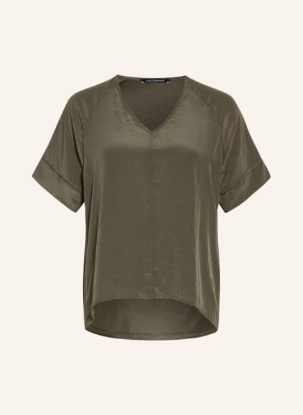 LUISA CERANO Blusenshirt im Materialmix, Farbe: OLIV (Bild 1)