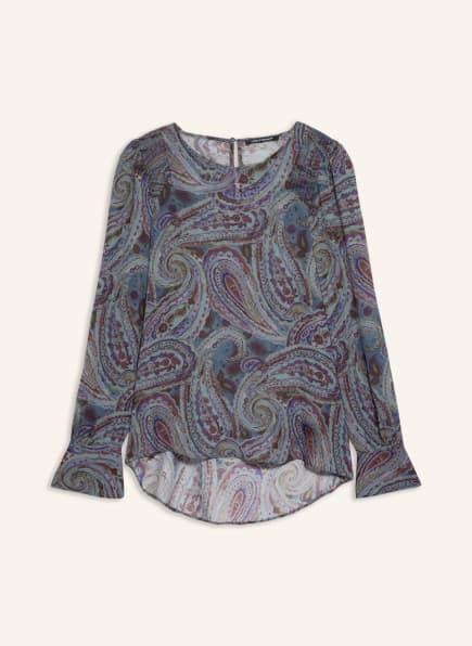 LUISA CERANO Blusenshirt, Farbe: BLAU/ MINT/ FUCHSIA (Bild 1)