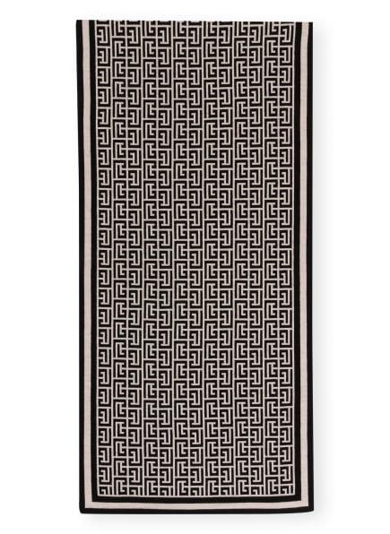 BALMAIN Schal aus Merinowolle, Farbe: SCHWARZ/ BEIGE (Bild 1)