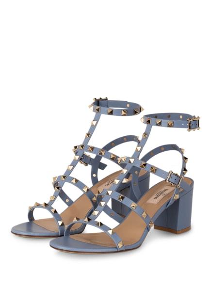 VALENTINO GARAVANI Sandaletten ROCKSTUD, Farbe: BLAUGRAU (Bild 1)