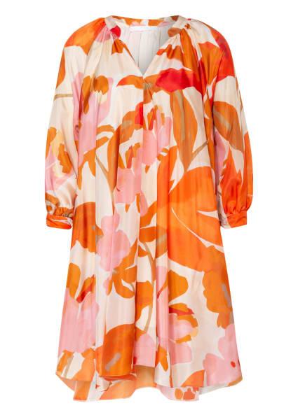 BOSS Kleid DIFLORU aus Seide, Farbe: ORANGE/ ROSA/ NUDE (Bild 1)
