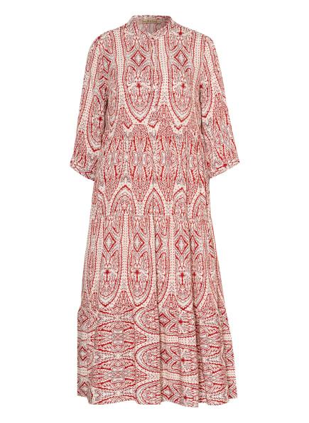 Smith&Soul Kleid mit 3/4-Arm, Farbe: WEISS/ DUNKELROT (Bild 1)