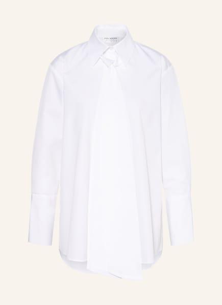 EVA MANN Blusenshirt CARINA mit abnehmbarer Schluppe, Farbe: WEISS (Bild 1)