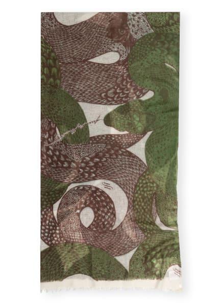 friendly hunting Cashmere-Schal SNAKE BASKET, Farbe: OLIV/ CREME/ BRAUN (Bild 1)