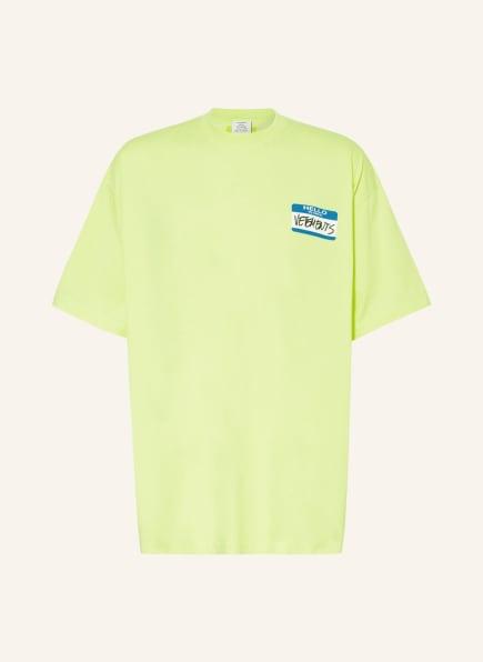 VETEMENTS Oversized-Shirt, Farbe: NEONGELB/ BLAU/ WEISS (Bild 1)