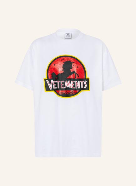 VETEMENTS Oversized-Shirt, Farbe: WEISS/ ROT/ SCHWARZ (Bild 1)