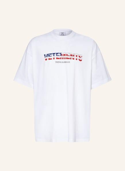 VETEMENTS Oversized-Shirt, Farbe: WEISS/ BLAU/ ROT (Bild 1)