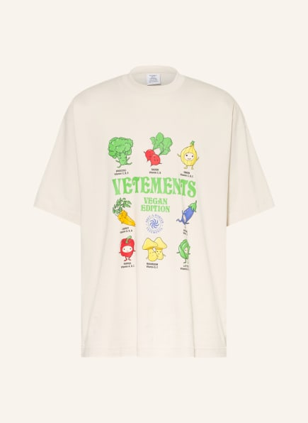 VETEMENTS Oversized-Shirt, Farbe: CREME (Bild 1)