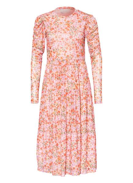 NEO NOIR Kleid MARIE, Farbe: ROSA/ GRÜN/ ROT (Bild 1)