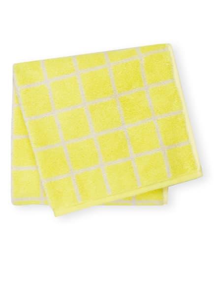 Cawö Handtuch CAMPUS, Farbe: GELB/ WEISS (Bild 1)