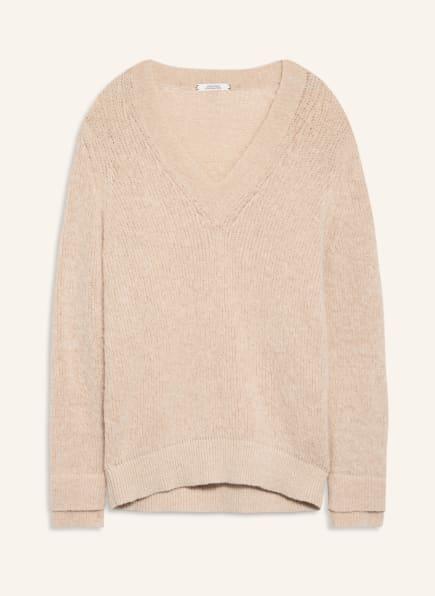 DOROTHEE SCHUMACHER Oversized-Pullover mit Alpaka, Farbe: BEIGE (Bild 1)