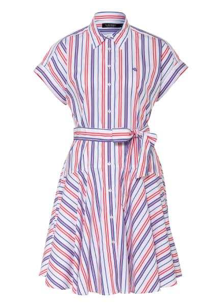 LAUREN RALPH LAUREN Hemdblusenkleid , Farbe: WEISS/ BLAU/ ROT (Bild 1)