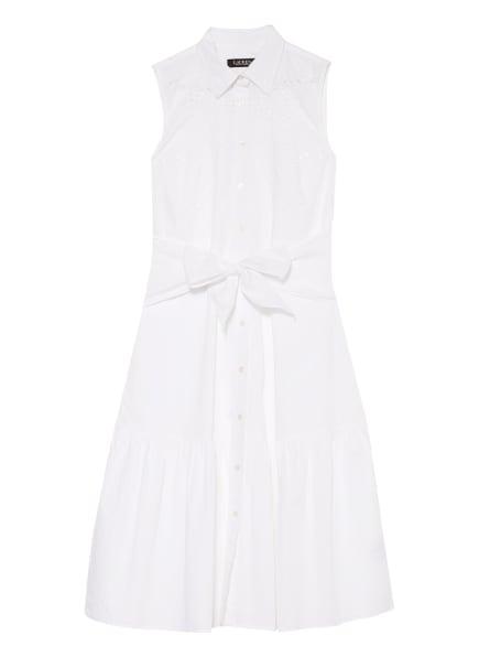 LAUREN RALPH LAUREN Kleid mit Lochspitze , Farbe: WEISS (Bild 1)