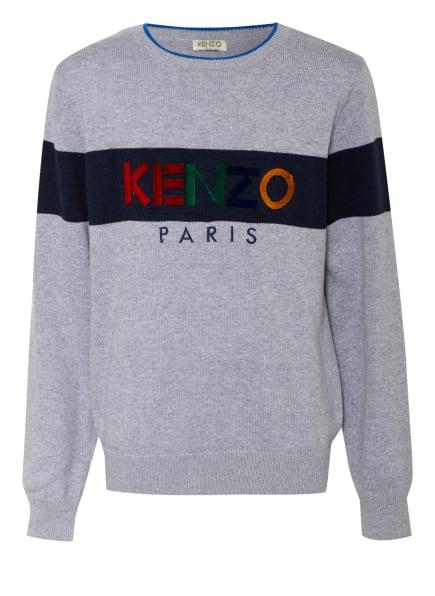 KENZO Pullover, Farbe: GRAU/ BLAU (Bild 1)