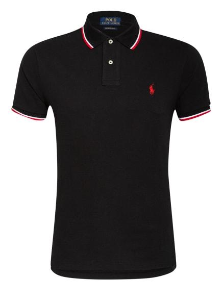 POLO RALPH LAUREN Piqué-Poloshirt Custom Slim Fit, Farbe: SCHWARZ (Bild 1)