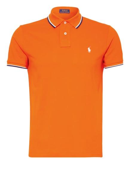 POLO RALPH LAUREN Piqué-Poloshirt Custom Slim Fit, Farbe: ORANGE (Bild 1)