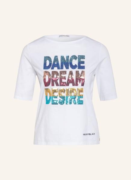 PENNYBLACK T-Shirt OTTAEDRO mit Pailettenbesatz, Farbe: WEISS (Bild 1)