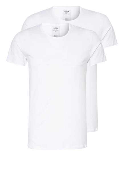 CALIDA 2er-Pack T-Shirts NATURAL BENEFIT, Farbe: WEISS (Bild 1)