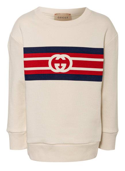 GUCCI Sweatshirt, Farbe: ECRU/ DUNKELBLAU/ ROT (Bild 1)