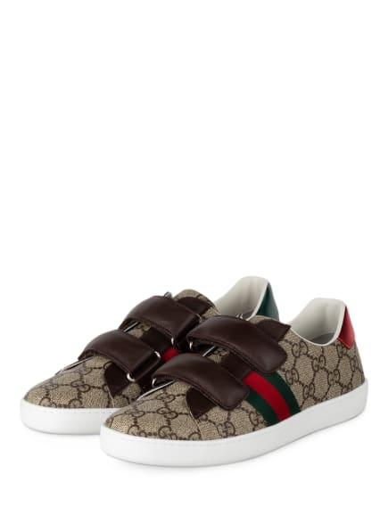 GUCCI Sneaker GG SUPREME, Farbe: BRAUN/ GRÜN/ ROT (Bild 1)
