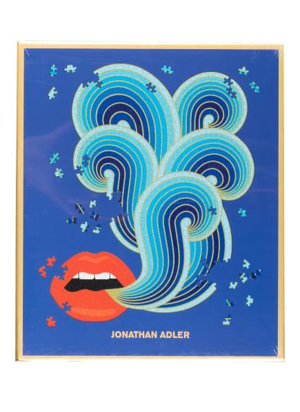 JONATHAN ADLER Puzzle, Farbe: DUNKELBLAU/ ROT/ GOLD (Bild 1)