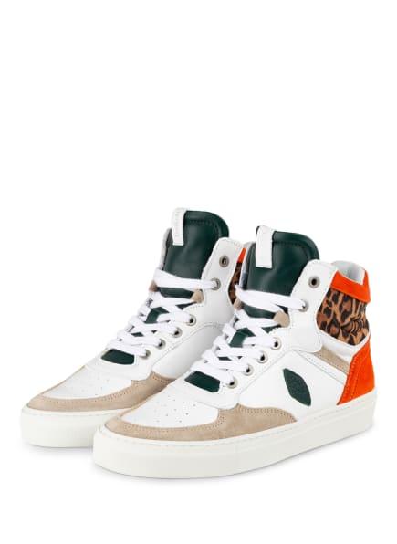 ba&sh Hightop-Sneaker CRUSH, Farbe: DUNKELORANGE/ WEISS/ BEIGE (Bild 1)