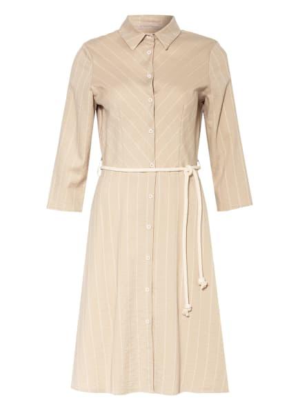 RINASCIMENTO Hemdblusenkleid mit 3/4-Arm, Farbe: BEIGE/ CREME (Bild 1)