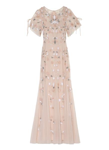 ADRIANNA PAPELL Abendkleid mit Paillettenbesatz, Farbe: NUDE/ WEISS/ SILBER (Bild 1)