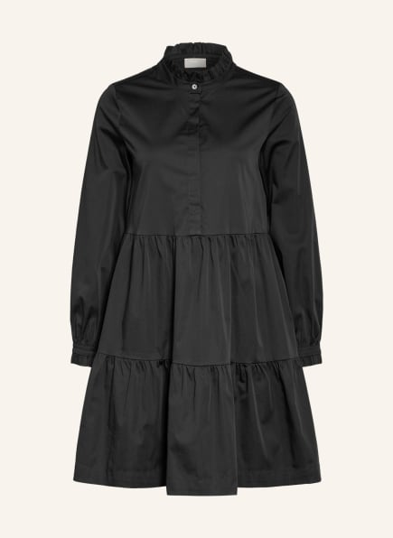 Mrs & HUGS Kleid mit Rüschenbesatz, Farbe: SCHWARZ (Bild 1)