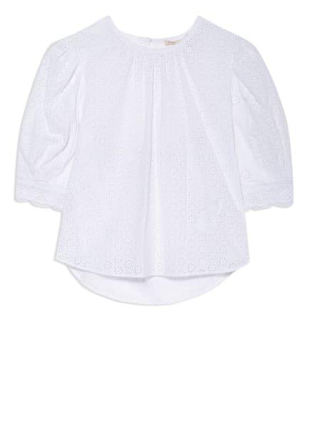 maje Blusenshirt aus Spitze mit Cut-out, Farbe: WEISS (Bild 1)